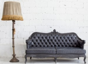 Old Couch against White Wall