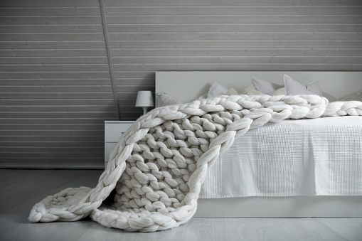chunky knit bedding trends