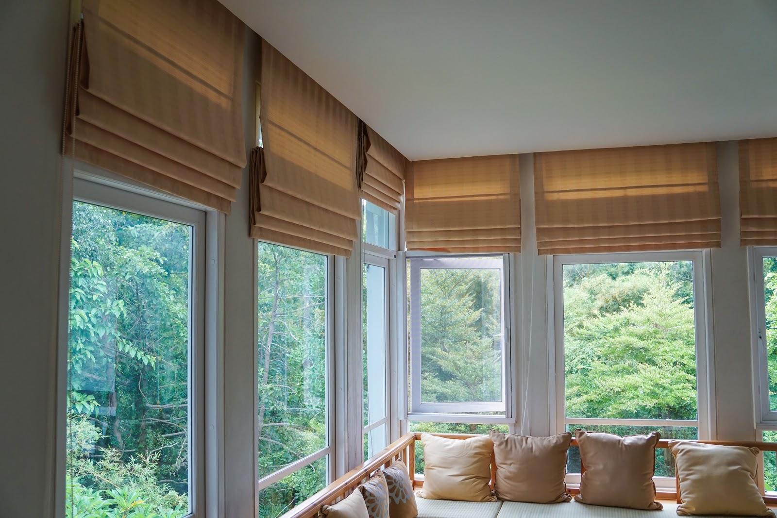 roman blinds window decor