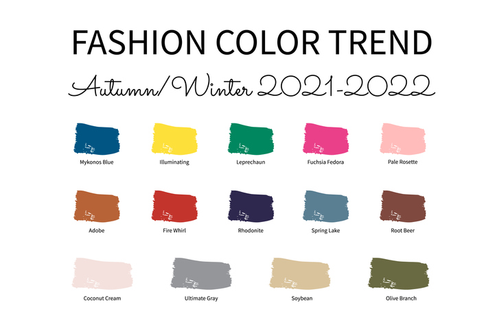Popular fall color schemes for 2021-2022